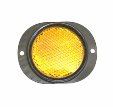 Side Marker Reflector with Amber Lens for Military Vehicles & Trailers, MS35387-2