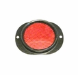 Side Marker Reflector with Red Lens for Military Vehicles & Trailers