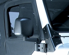 Door Mirror, Black, Right Side, 87-06 Jeep Wrangler by Rugged Ridge
