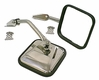 Side Mirror Kit, Stainless Steel, 55-86 Jeep CJ Models by Rugged Ridge