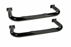 3-Inch Round Tube Side Steps, Black, 76-83 Jeep CJ5 by Rugged Ridge