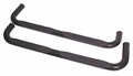 ( 1159081 ) 3-Inch Round Tube Side Steps, Black, 84-01 Jeep Cherokee by Rugged Ridge