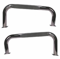 3-Inch Round Tube Side Steps, Stainless Steel, 76-83 Jeep CJ7 by Rugged Ridge