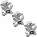 Silver X-Clamp, 3 Pieces, 2.25-3 Inches by Rugged Ridge