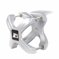 Silver X-Clamp, Single, 1.25-2.0 Inches by Rugged Ridge
