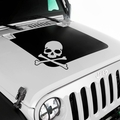 Skull Hood Decal for 2007-2017 Jeep Wrangler JK