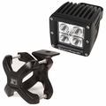 Small X-Clamp & Cube LED Light Kit, Black, 1-Piece by Rugged Ridge