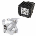 ( 1521031 ) Small X-Clamp & Cube LED Light Kit, Silver, Single by Rugged Ridge