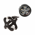 Small X-Clamp & Round LED Light Kit, Black, Single by Rugged Ridge