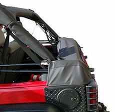 Soft Top Storage Boot, Black Diamond, 07-17 Jeep Wrangler by Rugged Ridge