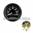 Speedometer Assembly for Military Trucks, 0-60 MPH, M37, M151, 2.5 Ton