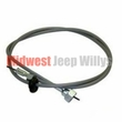 "Speedometer Cable, 60"" Long, 3 Speed Transmission, fits 1941-1975 Jeep MB, GPW, CJ2A, CJ3A, CJ3B, CJ5, CJ6 and 4WD Willys Truck and Station Wagon"