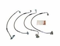 Stainless Steel Brake Hose Kit, Fits 2007-10 Jeep Wrangler JK