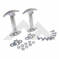 Hood Catch Kit, Stainless Steel, 41-95 Jeep CJ and Wrangler