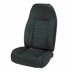 High-Back Front Seat, Non-Recline, Black, 76-02 Jeep CJ and Wrangler by Rugged Ridge