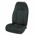 High-Back Front Seat, Non-Recline, Black Denim 76-02 Jeep CJ, Wrangler by Rugged Ridge