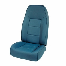 High-Back Front Seat, Non-Recline, Blue, 76-02 Jeep CJ and Wrangler by Rugged Ridge