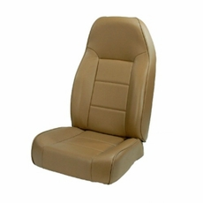 High-Back Front Seat, Non-Recline, Nutmeg, 76-02 Jeep CJ and Wrangler by Rugged Ridge
