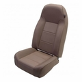 High-Back Front Seat, Non-Recline, Tan, 76-02 Jeep CJ and Wrangler by Rugged Ridge