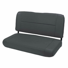 Standard Replacement Rear Seat, Black, 55-95 Jeep CJ and Wrangler by Rugged Ridge