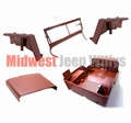 Steel Body Kit, Willys MB 1944-1945. Body With Fenders, Hood, Windshield