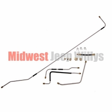 Steel Fuel Line Kit, Fits 1950-1952 Willys Jeep M38 Models