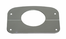 Steering Column Cover, Stainless Steel, 76-86 Jeep CJ Models by Rugged Ridge