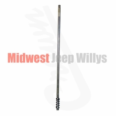 """Steering Worm Shaft, 42-7/16"""" Length, Fits 1952-1966 Willys M38A1, 1966-1971 CJ5, CJ6 with V6 Engine"""