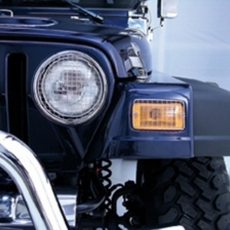 Stone Guard Set, Stainless Steel, 97-06 Jeep Wrangler by Rugged Ridge