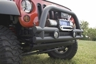 3-Inch Stubby Tube Front Winch Bumper, 07-17 Jeep Wrangler by Rugged Ridge