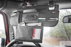 Sun Visor Organizers, Black, 10-17 Jeep Wrangler by Rugged Ridge