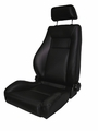 Ultra Front Seat, Reclinable, Black, 76-02 Jeep CJ and Wrangler by Rugged Ridge