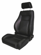Ultra Front Seat, Reclinable, Black Denim, 76-02 Jeep CJ and Wrangler by Rugged Ridge