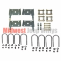 Suspension Hardware Kit, Rubber Bushings, Fits 1958-1971 Jeep CJ3B, M38A1, CJ5 and CJ6