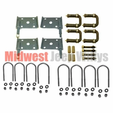 Suspension Hardware Kit, Greaseable Shackles and Bolts, Fits 1952-1957 Willys Jeep M38A1