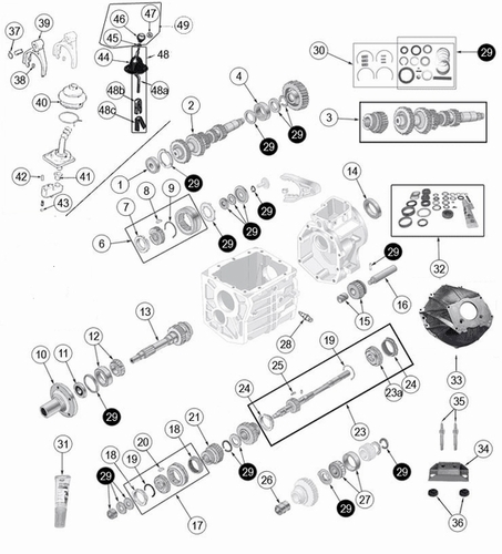 Jeep T-4 Transmission Parts