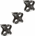 Textured Black X-Clamp, 3 Pieces, 2.25-3 Inches by Rugged Ridge
