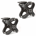 Textured Black X-Clamp, Pair, 1.25-2.0 Inches by Rugged Ridge