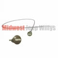 Throttle Cable Assembly Fits Willys Military MB, GPW, M38, M38A1 with Olive Green Knob