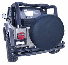 30-32 Inch Tire Cover, Black by Rugged Ridge