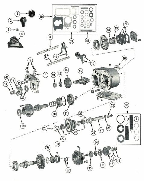 Jeep Dana 300 Transfer Case Parts