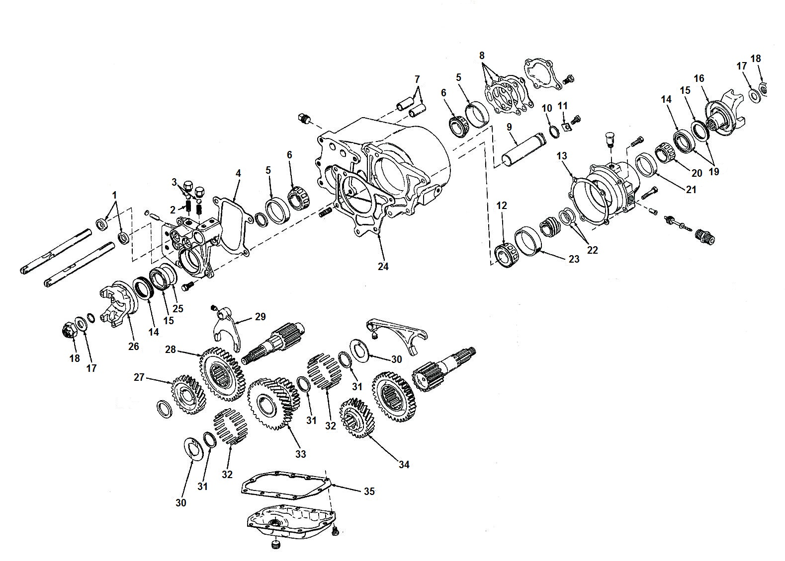 1978 Cj7 Part Diagram List Of Schematic Circuit Jeep Steering Column Wiring Dana Spicer 20 Transfer Case Parts From Midwest Willys Rh Midwestjeepwillys Com