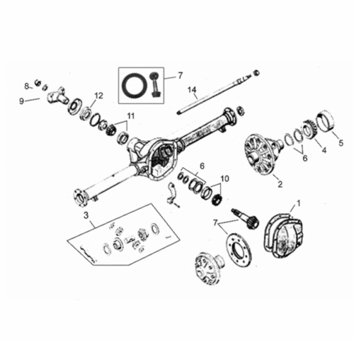 Truck & Wagon Rear Axle Parts