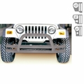 3-Inch Double Tube Front Bumper, Titanium, 76-06 Jeep CJ and Wrangler by Rugged Ridge