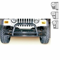3-Inch Double Tube Front Bumper with Hoop, 76-06 Jeep CJ and Wrangler by Rugged Ridge