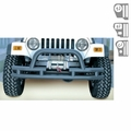 3-Inch Double Tube Front Winch Bumper, Hoop, 76-06 Jeep Models by Rugged Ridge