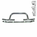 3-Inch Tube Front Winch Bumper, Stainless Steel, 76-06 Jeep Models by Rugged Ridge