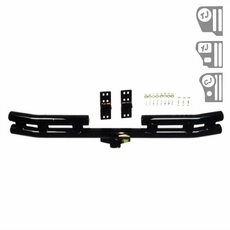3-Inch Rear Double Tube Bumper, 55-06 Jeep CJ and Wrangler by Rugged Ridge