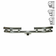 3-Inch Rear Tube Bumper Stainless Steel, 55-06 Jeep CJ and Wrangler by Rugged Ridge