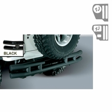3-Inch Double Tube Rear Bumper with Hitch, 87-06 Jeep Wrangler by Rugged Ridge